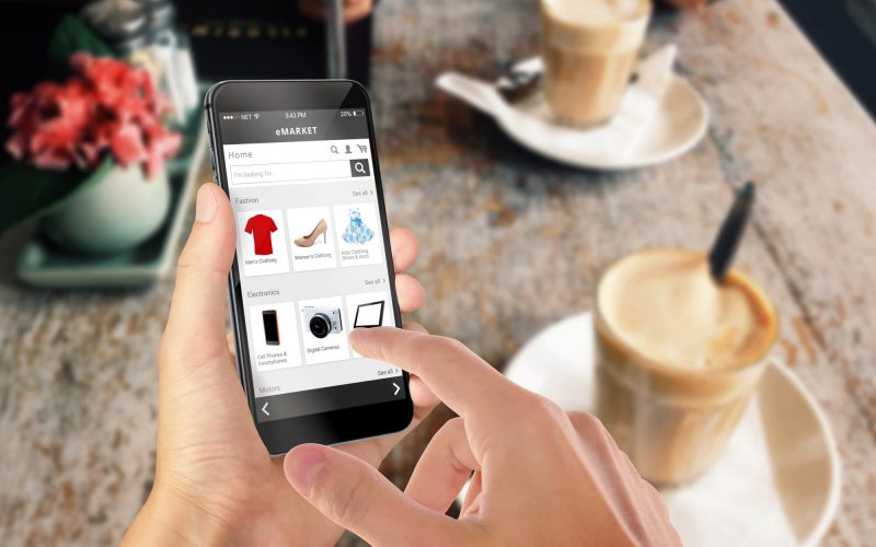 Mobile device with fashion store